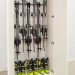 Store virtually anything inside the cabinet using our patented Monkey Bars in-cabinets rack system.
