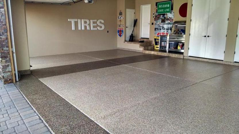 Epoxy garage floor atlanta u0027s and mcdonough epoxy for Best product to clean garage floor