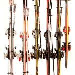 The Ski Rack from Monkey Bars can hold 6 pairs of skis and poles. The best Ski Rack for any family. $79.99