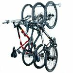 This is a great wall mounted Small Garage Bike Rack to organize 3 bicycles in a 3ft space. $79.99