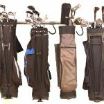 A Golf Bag Rack that really works. Store your golf clubs off the floor with the Monkey Bar Golf Bag Rack.  $79.99